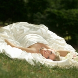 Laying Down Bride